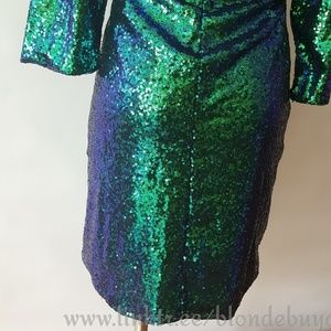 Dresses - Blue+ green sequin mermaid colored dress xxl